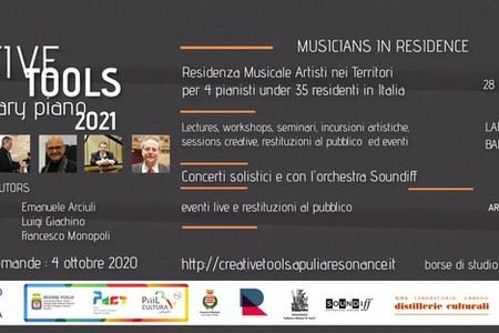 Creative Tools Contemporary Piano 2021, online il bando
